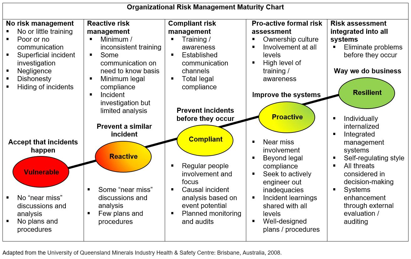 Organizational Risk Management Maturity Chart